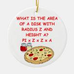 PIZZA y matemáticas Ornamento Para Reyes Magos