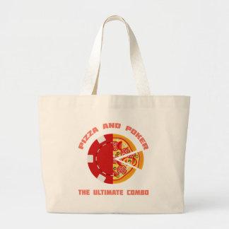 Pizza y póker bolsas de mano