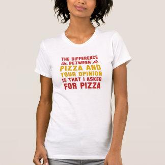 Pizza y su opinión poleras