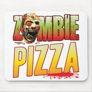Pizza Zombie Head Mouse Pad