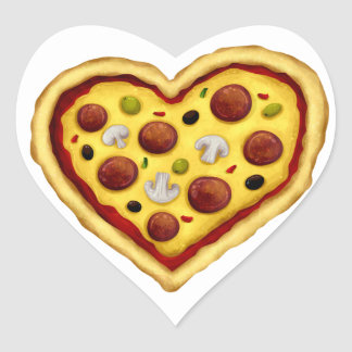 _pizzaluv heart sticker