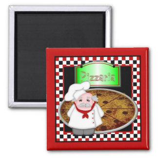 Pizzaria Square Refrigerator Magnet