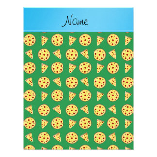 Pizzas conocidas personalizadas del verde de la plantillas de membrete