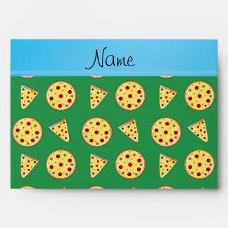 Pizzas conocidas personalizadas del verde de la ra
