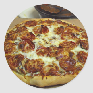 Pizzas de salchichones pegatina
