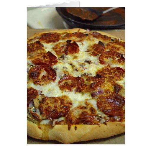Pizzas de salchichones tarjetón