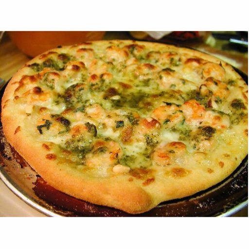 Pizzas Food Cheeses Shrimp Pesto Acrylic Cut Out