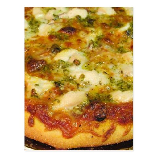 Pizzas Food Cooking Chicken Postcards