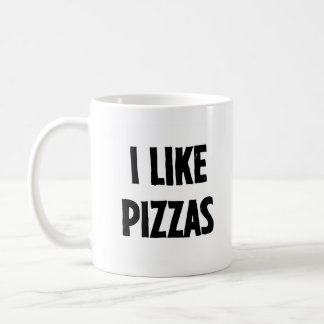 Pizzas - Right Handed Classic White Coffee Mug