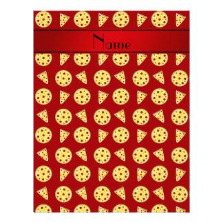 Pizzas rojas conocidas personalizadas plantilla de membrete