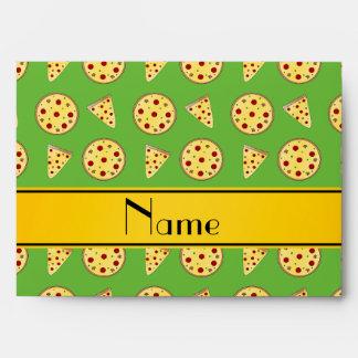 Pizzas verdes claras conocidas personalizadas