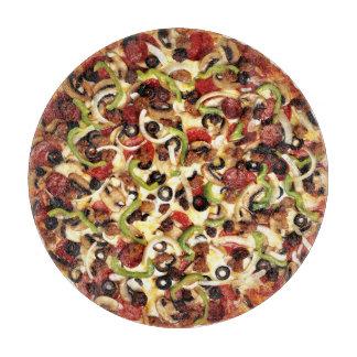 Pizzawith los trabajos tablas para cortar