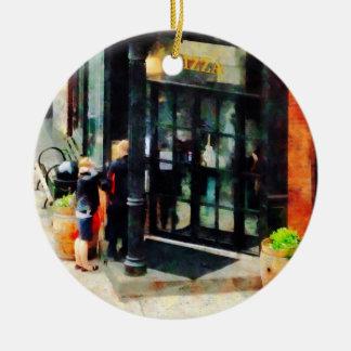 Pizzería de Nueva York Adorno De Navidad
