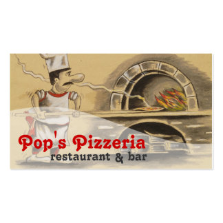 Pizzeria Food Restaurant Diner Eatery Catering Business Card