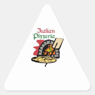 PIZZERÍA ITALIANA PEGATINA TRIANGULAR