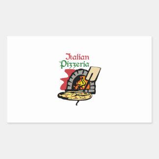 PIZZERÍA ITALIANA PEGATINA RECTANGULAR