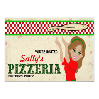 Pizzeria Party Girl Card