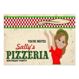 Pizzeria Party Girl Invitation