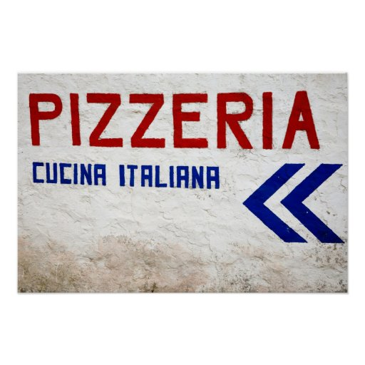 Pizzería Póster
