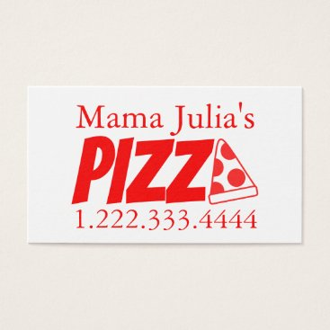 Professional Business Pizzeria Red Banger Business Card