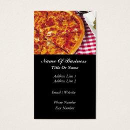 Pizzeria Restaurant Business Card