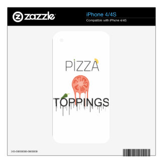 pizzza toppings iPhone 4S decals