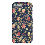 PJ navy and pink retro rose . Barely There iPhone 6 Case
