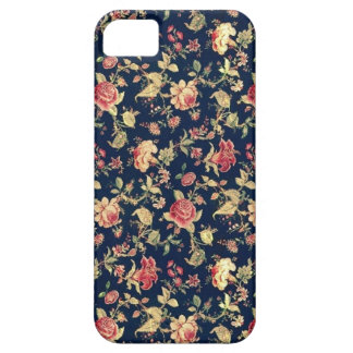 PJ navy and pink retro rose print. iPhone SE/5/5s Case