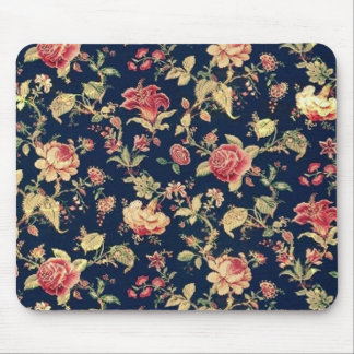PJ navy and pink retro rose print. Mouse Pad