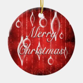 pj_ornament_round - juguetes del navidad rojos adorno navideño redondo de cerámica
