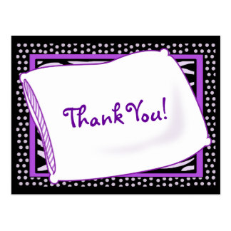 PJ Party Thank You in Purples Postcard