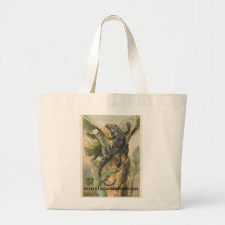 PJ Smith - Black Iguana Jumbo Tote Bag