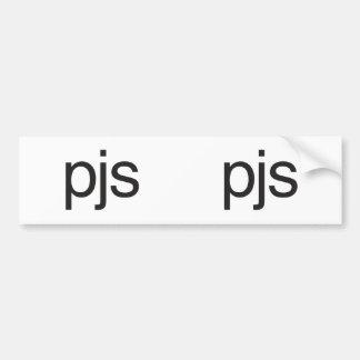 pjs.ai bumper stickers
