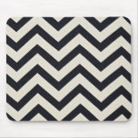 PJ's Chevron. Black and white pattern. Mouse Pad