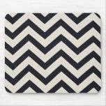 PJ's Chevron. Black and white pattern. Mousepads