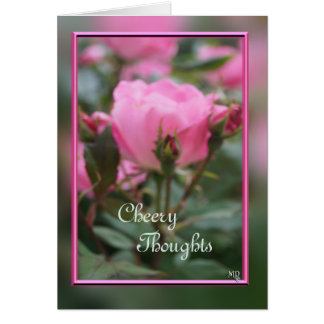 Pk KO Rose & buds 2- customize any occasion Greeting Cards