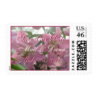 PK Lily Save-our-date Stamp-customize