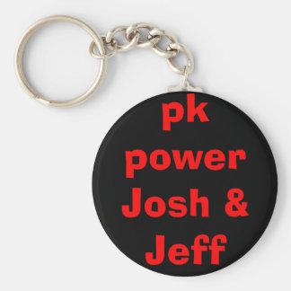 pk power Josh & Jeff Basic Round Button Keychain