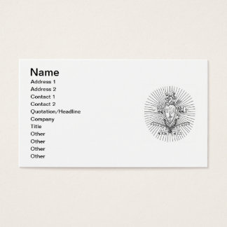 PKA Crest BW Weathered Business Card