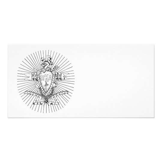PKA Crest BW Weathered Card