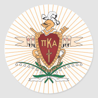 PKA Crest Color Classic Round Sticker