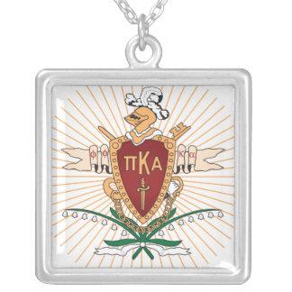 PKA Crest Color Square Pendant Necklace