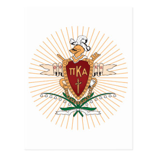 PKA Crest Color Postcard