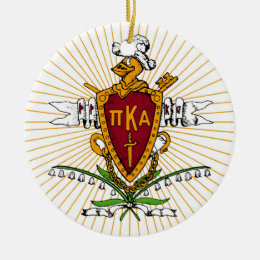 PKA Crest Color Weathered Ceramic Ornament