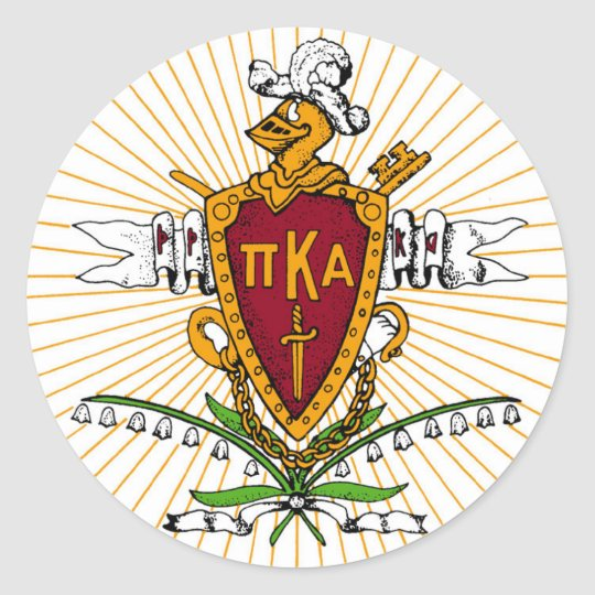 PKA Crest Color Weathered Classic Round Sticker