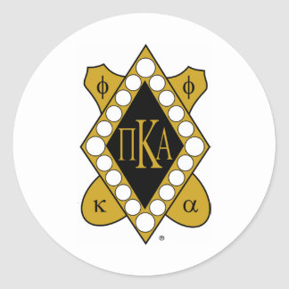 PKA Gold Diamond Classic Round Sticker