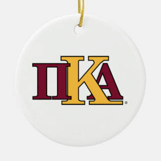 PKA Letters Double-Sided Ceramic Round Christmas Ornament