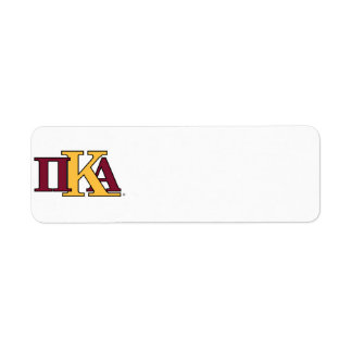 PKA Letters Label
