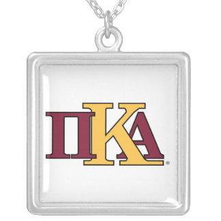 PKA Letters Square Pendant Necklace