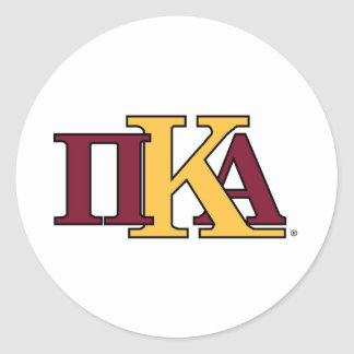 PKA Letters Round Sticker